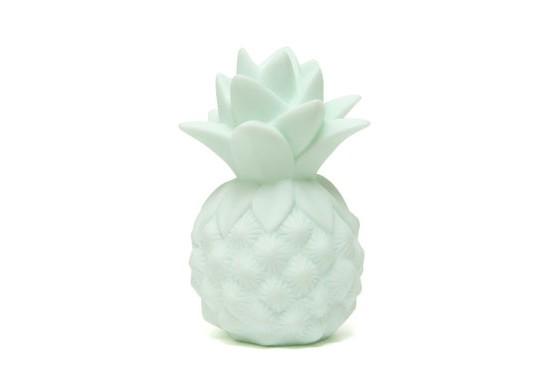 Veilleuse ananas vert mint