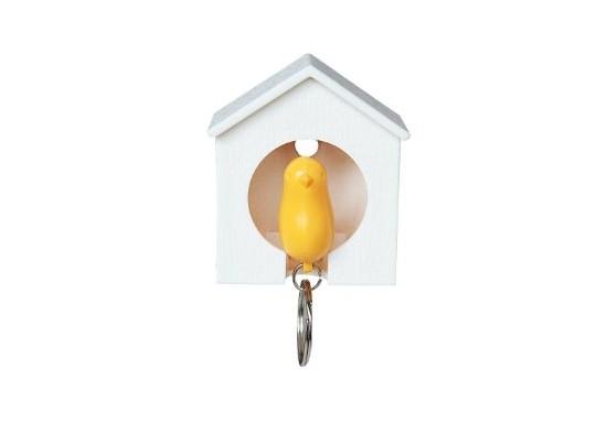Maison porte clés oiseau bleu