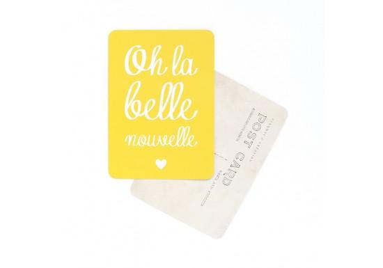 Carte postale Oh la belle nouvelle / Mona - citron