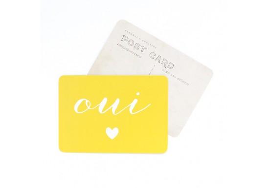 Carte postale Oui / Anna - citron