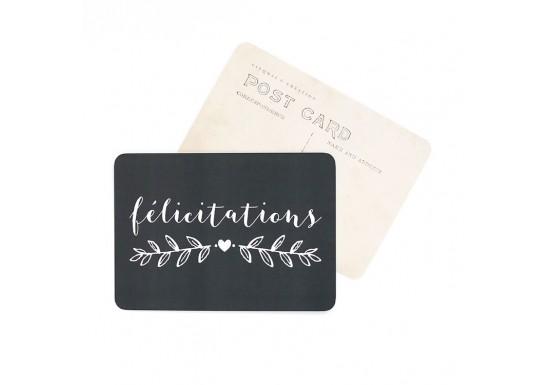 Carte postale Félicitations / Mila - ardoise