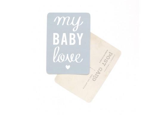 Carte postale My baby love / Mona - gris