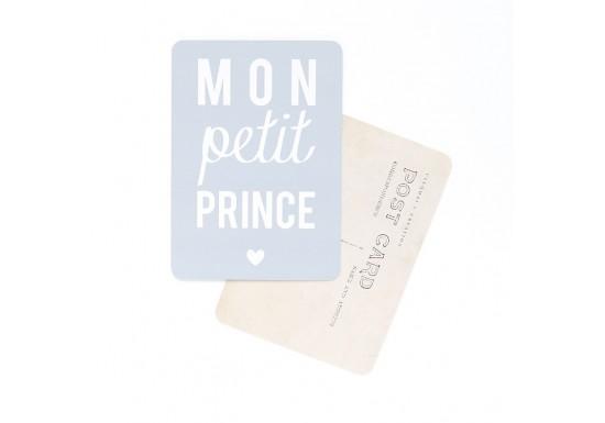 Carte postale Mon petit prince - gris