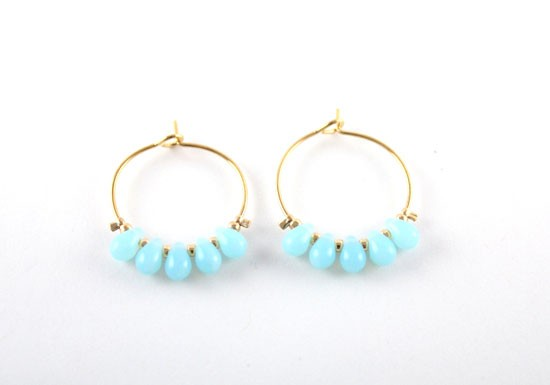 Boucles d'oreilles Ana Maria turquoise