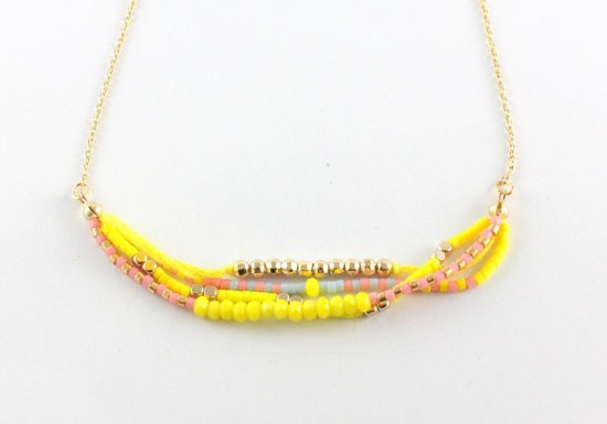 Collier Java jaune