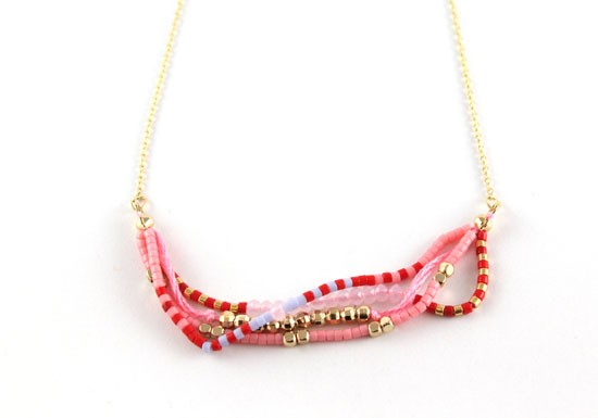 Collier Java rose