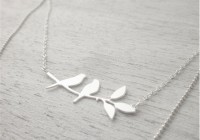 Collier lovebirds argenté