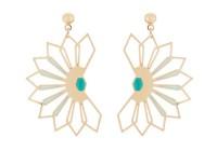 Boucles d'oreilles Fleur de cactus -  vert turquoise