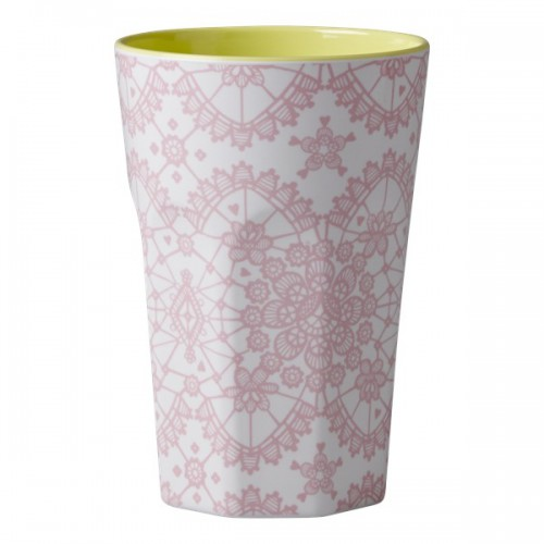 Grand mug - dentelle rose