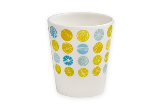 Tasse à café géométrique bleu