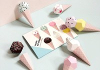 Origami Paper ice creams - Lot de 6