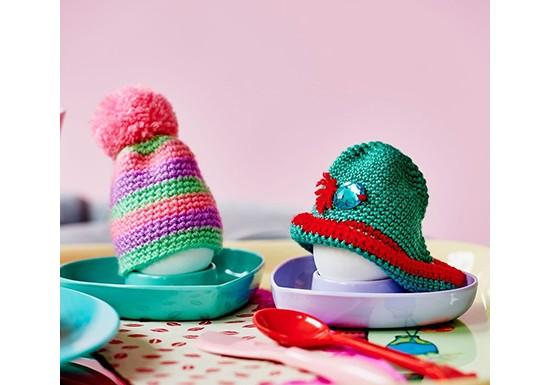 Bonnet pour œuf rose