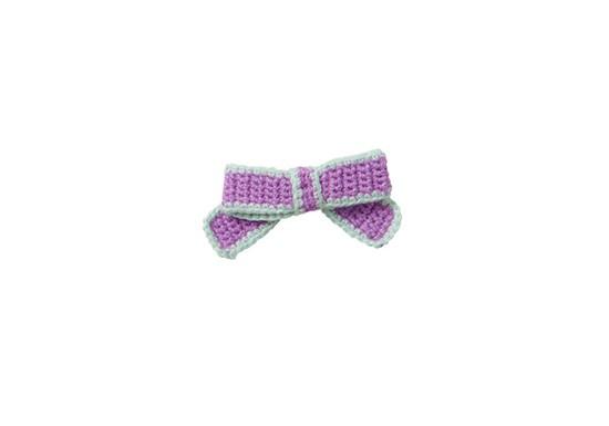 Nœud en crochet violet