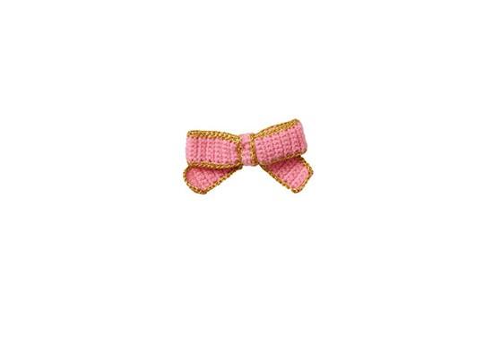 Nœud en crochet rose fluo