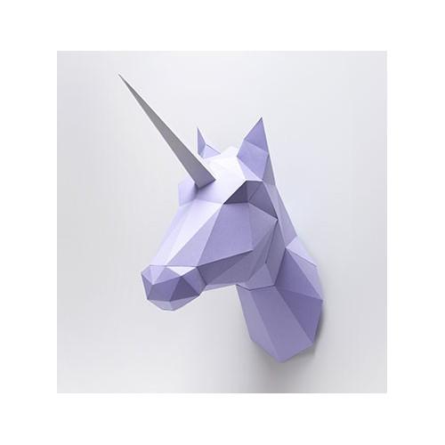 Trophée Cheval / Licorne violet