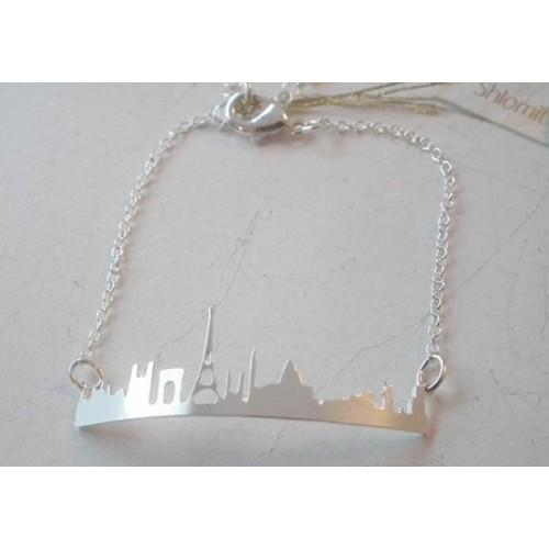 Bracelet Skyline Paris argenté