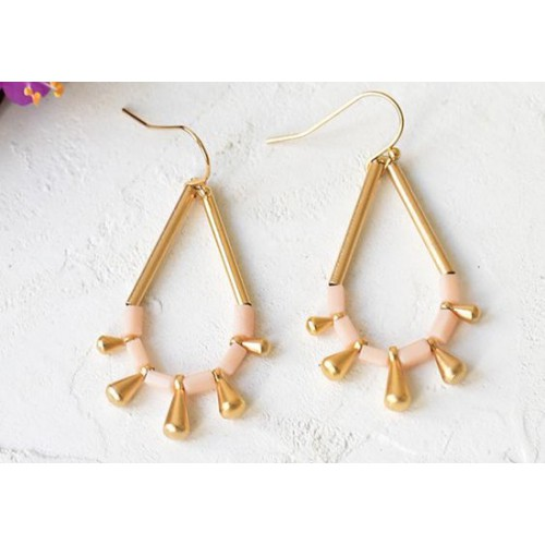 Boucles d'oreilles Monsoon rose