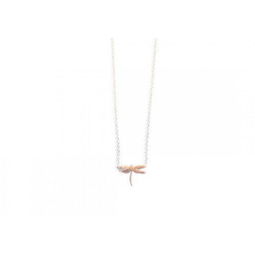 Collier Libellule argenté
