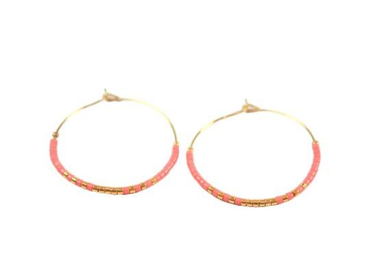 Boucles d'oreilles Maika rose