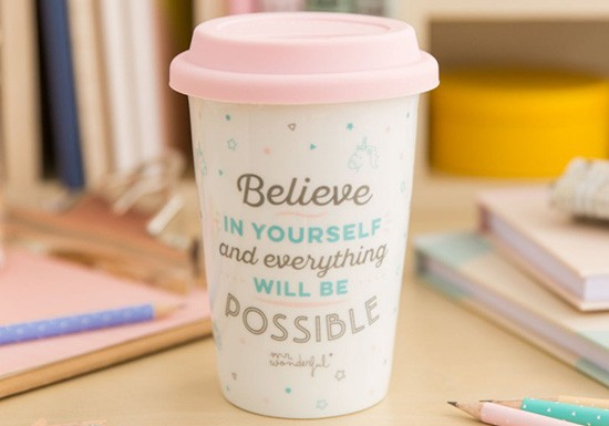 Tasse take away Believe in yourself