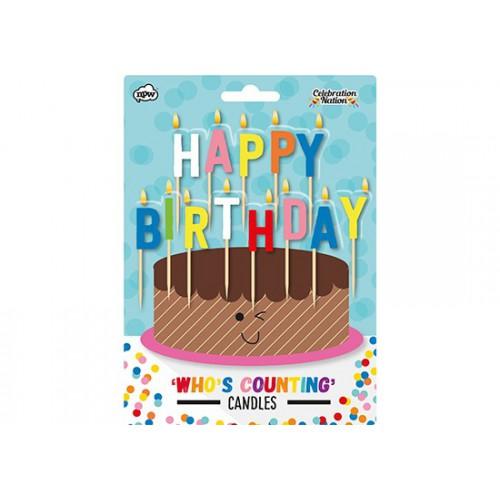 Bougies Happy Birthday