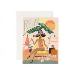 Carte postale Relax birthday