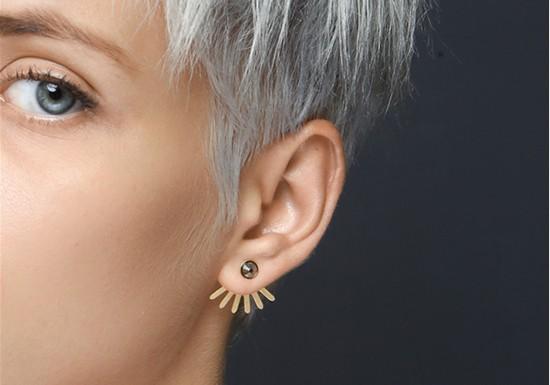 Boucles d'oreilles Underground gris