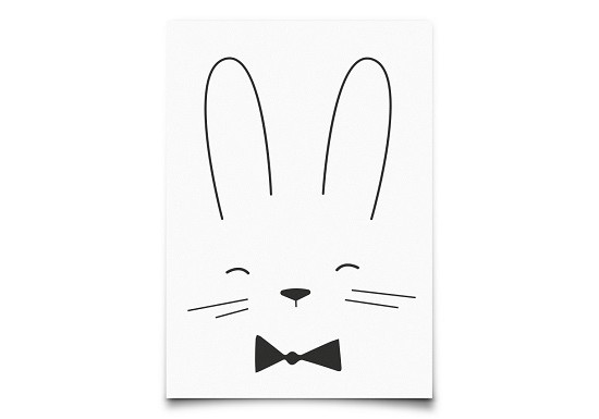 Carte Monochrome rabbit