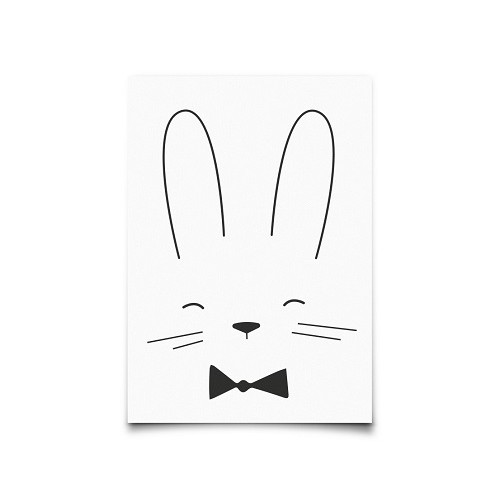 Carte postale Monochrome Rabbit