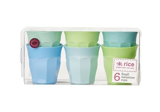Pack de 6 gobelets small Bleus et Verts