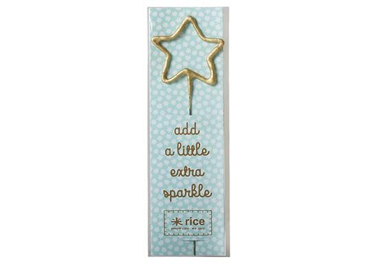 Bougie étincelles étoile
