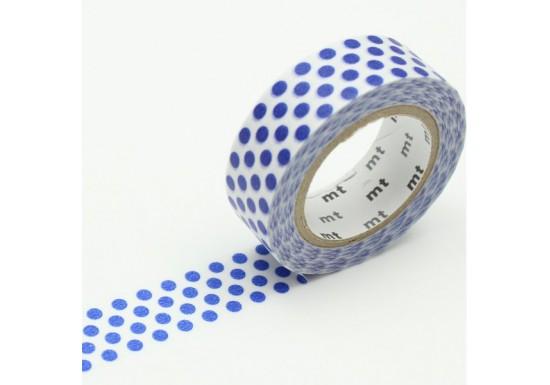 Masking Tape déco - pois bleu