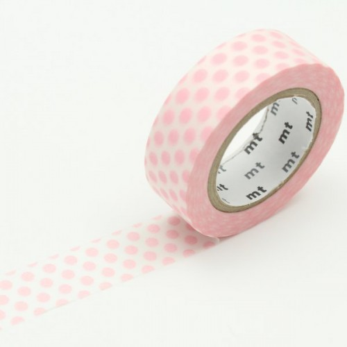 Masking Tape déco - Dot strawberry milk