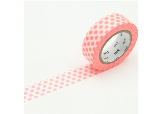 Masking Tape déco - Dot shoking red