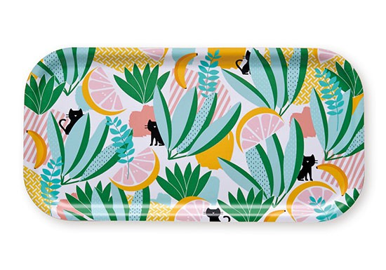 Plateau rectangulaire Jungle cat