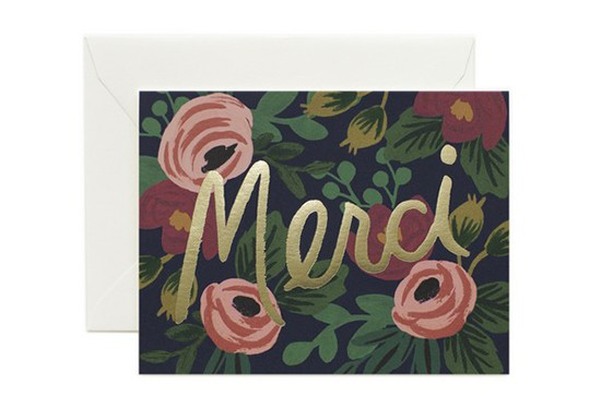 Carte postale Merci