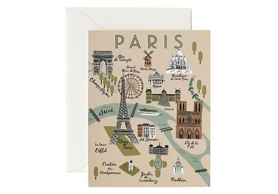 Carte postale Plan de Paris