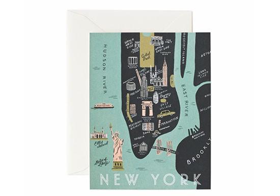 Carte postale Plan de New York
