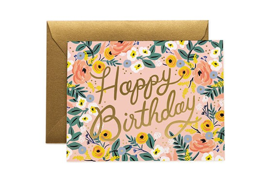 Carte postale Happy birthday rose