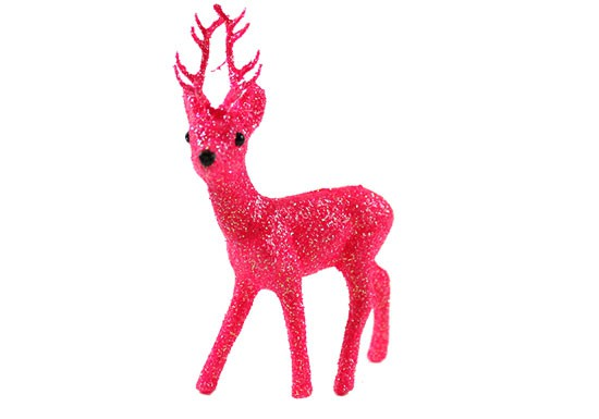 Cerf rose fluo