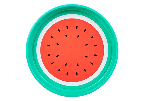 Plateau rond Watermelon