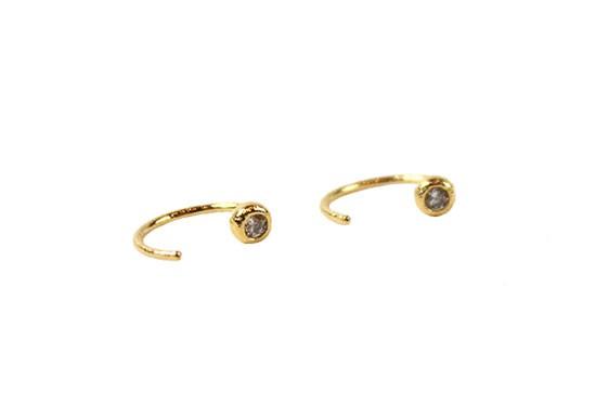 Boucles d'oreilles Open Ring doré