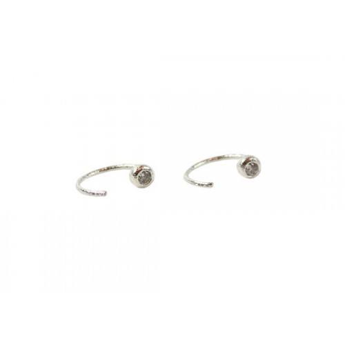 Boucles d'oreilles Open Ring argenté