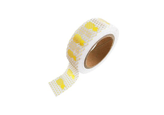 Washi tape Ananas doré