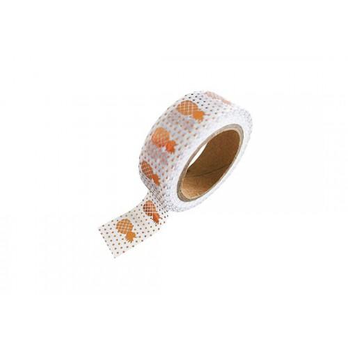 Washi tape Ananas bronze