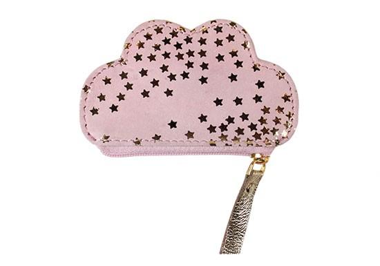 Porte monnaie nuage rose