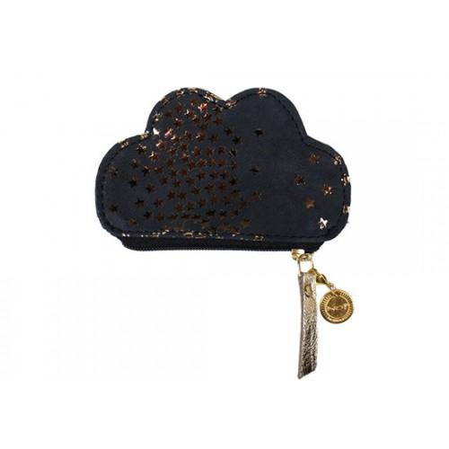 Porte monnaie nuage noir