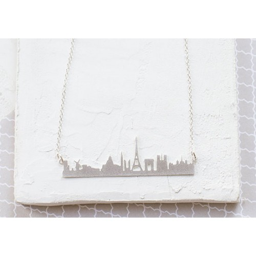Collier Skyline Paris argenté