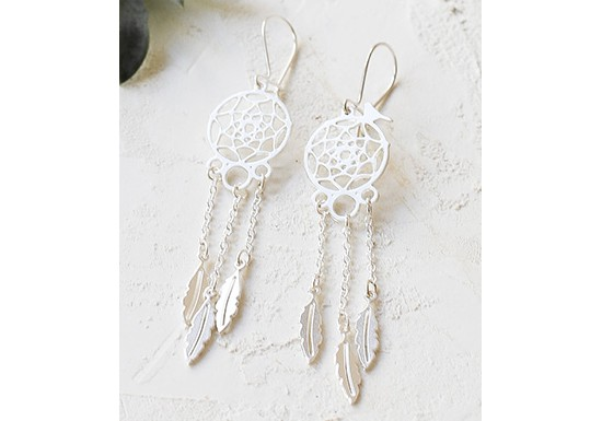 Boucles d'oreilles Dream catcher doré