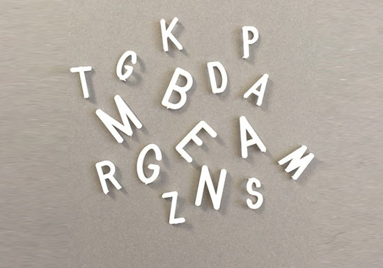 Lettres blanches pour Letter Board